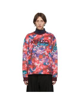 Red 'kenzo World' Sweatshirt by Kenzo