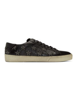 Black Star Stud Sl/06 Sneakers by Saint Laurent
