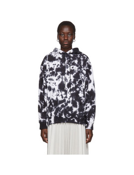 White & Black Pswl Ink Blotch Hoodie by Proenza Schouler