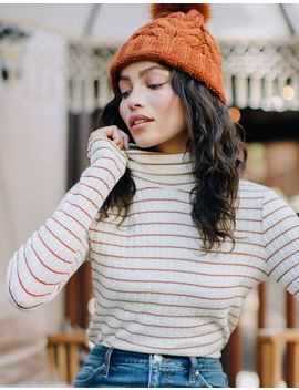 Ivy & Main Stripe Womens Turtleneck Top by Tilly's