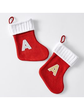 Alphabet Stocking   Silver/Gold Assorted   C by Target