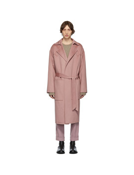 Pink Timo Coat by Nanushka