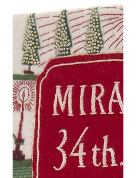 Miracle On 34th Street Appliquéd Embroidered Canvas Clutch by Olympia Le Tan