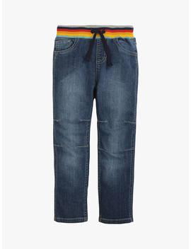 Frugi Children's Gots Organic Cotton Cody Comfy Jeans, Light Wash Blue by Frugi