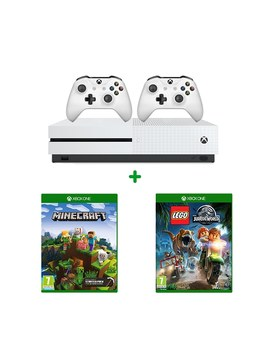 Xbox One S 1 Tb, Two Controllers, Minecraft & Lego Jurassic World by Smyths