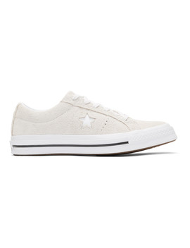 Off White Suede One Star Sneakers by Converse