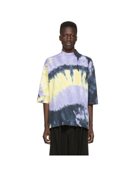 Purple Tie Dye Mock Neck T Shirt by Sasquatchfabrix.