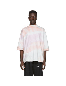 Pink Tie Dye Mock Neck T Shirt by Sasquatchfabrix.