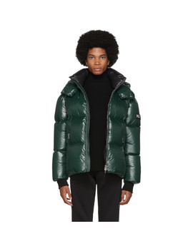 Green Down Lustrous Kent Jacket by Mackage