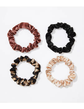 Leopard Print Mini Scrunchie Set by Loft