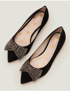 Adelaide Jewelled Flats   Black by Boden
