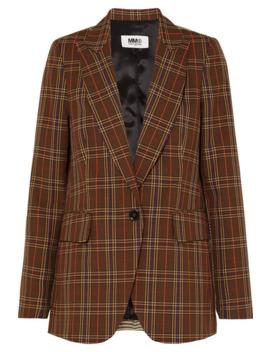Paneled Checked Jacquard Blazer by Mm6 Maison Margiela