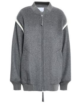 Wool Blend Fleece Bomber Jacket by Alexanderwang.T