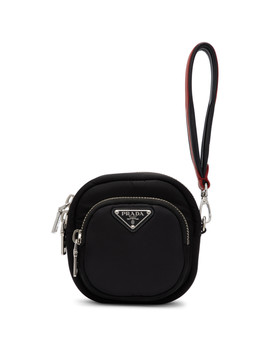 Black Single Pocket Clutch by Prada