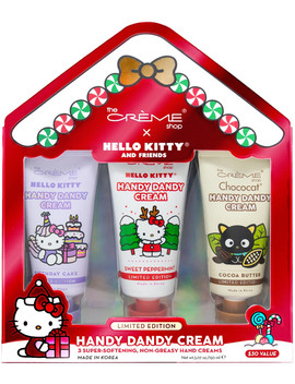 Limited Edition Hello Kitty & Friends 3 Piece Handy Dandy Hand Cream Set by The Crème Shop