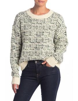 Weave Pattern Fuzzy Sweater by Lush