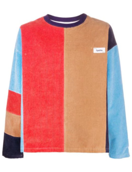 Colour Block Corduroy Sweatshirt by Kenzo
