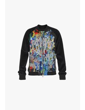 Multicolor Sequined Bomber Jacket by Balmain