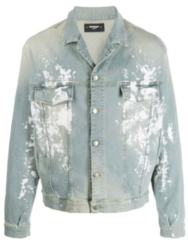 Bleached Effect Denim Jacket by Represent