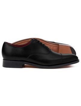 Black Made In England Oxford Flex Sole Shoes by Charles Tyrwhitt