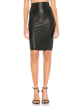 Perfect Pencil Faux Leather Skirt by Commando