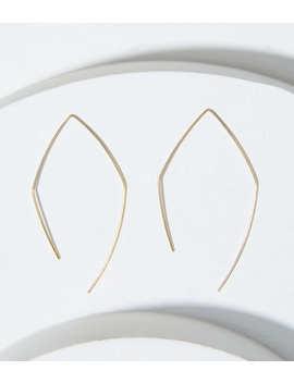 Pull Through Diamond Hoop Earrings by Loft