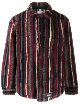 Striped Shearling Jacket by Napa By Martine Rose