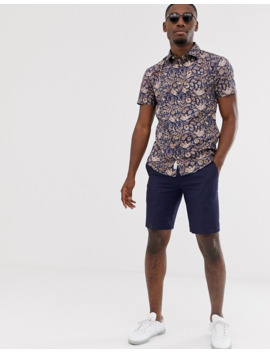 Jack & Jones Premium Slim Fit Shirt In Gold Royal Print by Jack & Jones