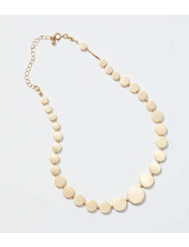 Metallic Disc Statement Necklace by Loft