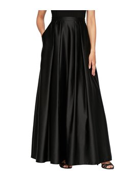 Satin With Pocket Inverted Pleat Ballgown Skirt by Alex Evenings