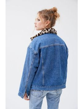 Levi's Oversized Reversible Faux Fur Trucker Jacket by Levi's