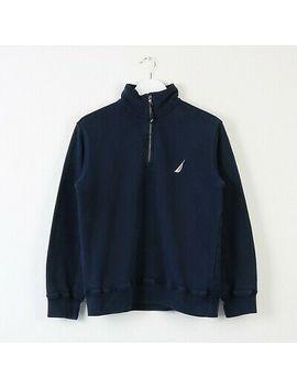 <Span><Span>Vintage Navy Nautica 1/4 Quarter Zip Sweatshirt Jumper   Size Xs</Span></Span> by Ebay Seller