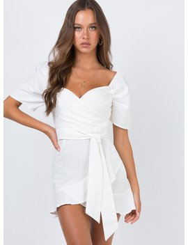 The Kier Mini Dress White by Princess Polly