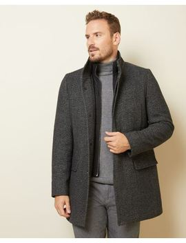 Grey Wool Blend Top Coat by Rw & Co