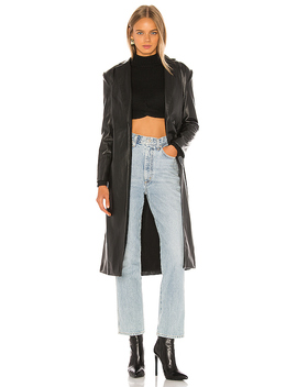 Carlisle Trench Coat In Black by Nbd