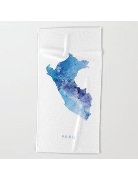 Peru Beach Towel by Society6