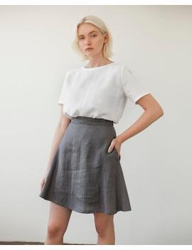 Adelle Linen Mini Skirt,  A Line Linen Skirt, Short Skirt From Natural Linen, Linen Skirts For Women, Handmade Linen Clothes by Etsy