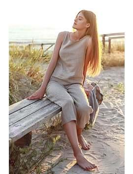 Linen Pajama Set, Linen Pajama For Woman, Natural Linen Pajama Set , Women's Pajama Set With Pants, Linen Pajama Pants, Grey Linen Pajama by Etsy