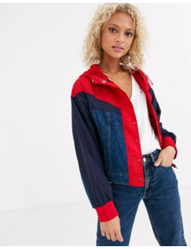 Levi's Hybrid Slouch Jacket In Red And Ablue by Levi's