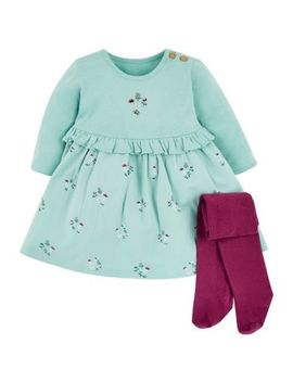 Mini Club Dress And Tights Set by Mothercare