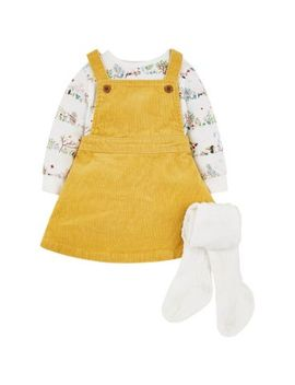 Mini Club Cord Dress Set by Mothercare