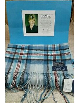 Princess Diana Memorial Cashmere Scarf By Burberry Of London With Box & Tag by Ebay Seller