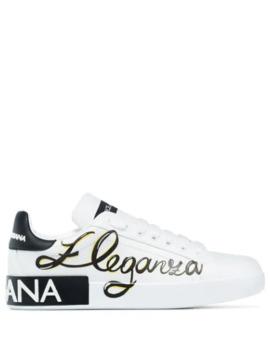 White Portofino Eleganza Sneakers by Dolce & Gabbana
