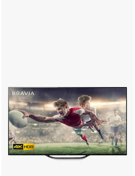 """Sony Bravia Kd55 Ag8 (2019) Oled Hdr 4 K Ultra Hd Smart Android Tv, 55"""" With Freeview Hd, Youview, & Acoustic Surface Audio, Black by Sony"""