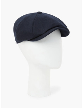 John Lewis & Partners British Merino Wool Baker Boy Cap, Navy by John Lewis & Partners