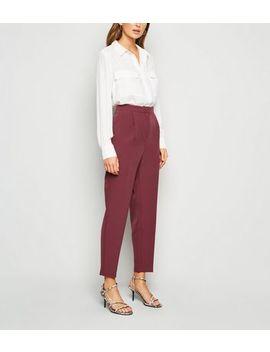 Burgundy Slim Leg Trousers by New Look
