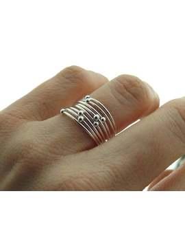 Choose Your  Orbit Ring, Spinner Rings, Stacking Rings, Modern Sterling Spinner Ring, Thin Ring, Beaded Ring, Whisper Rings, Delicate Rings by Etsy