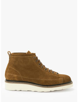 John Lewis & Partners Definitive Suede Welted Roofer Boots, Tobacco by John Lewis & Partners