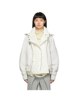 Off White Sponge Jacket by Sacai