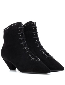 Kate 45 Suede Ankle Boots by Saint Laurent